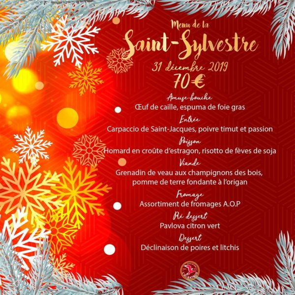 menu saint sylvestre
